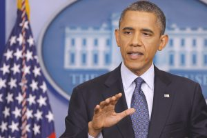 President Obama Speaks On The Economy In The White House Briefing Room