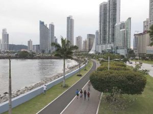 Promenade in Panama City in the Afternoon