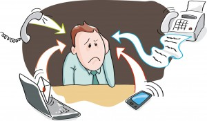 Office burnout - information overload, electronic devices