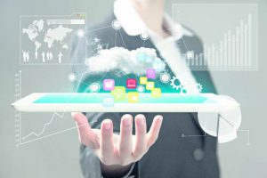 Technology in the hands of businesswomen