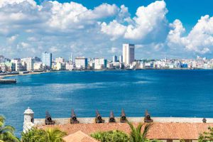 The Malecon and the Havana skyline in Cuba