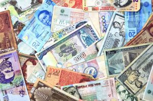 Currency from Latin American countries such as Argentina, Uruguay, Paraguay, Mexico, Colombia, and Peru
