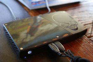Intel Corp.s new Skull Canyon NUC is displayed at the Game Developers Conference on March 16, 2016. The much-anticipated Intel NUC features a 6thGeneration Intel Core i7 processor, Intel Iris Pro graphics and Thunderbolt 3.The 2016 Game Developers Conference, the largest professionals-only gaming industry event, runs from March 14-18 in San Francisco. (Credit: Ken Kaplan/Intel Corporation)