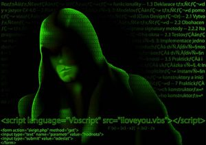 Hacker and Computer Codes - Abstract Background Illustration, Ve