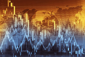 Business Trading Concept Illustration. Global Economy and the Stock Markets.